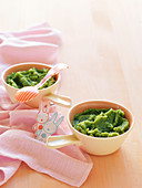Fish, Potato amd Spinach Puree for babies (6-9 Months)