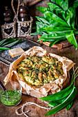 Wild garlic buns