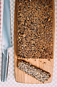Gluten-free seeded loaf (Hazelnuts, gluten-free oats, sunflower seeds, flaxseeds and poppy seeds)
