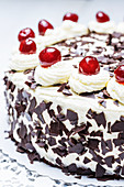 Black Forest cake (close up)
