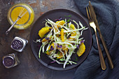 Fennel and orange salad with cress