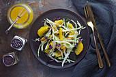 Fenchel-Orangen-Salat mit Kresse