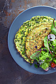 Herb omelette with spinach