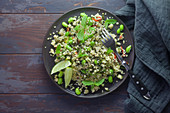 Tabbouleh with edamame and mint