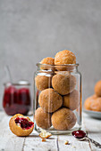 Donut Holes filled with jam