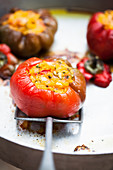 Peppers stuffed with polenta