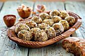 Bread dumplings with chia seeds