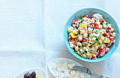 Couscous salad with feta and olives