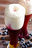Black Forest blueberry beer with blueberry juice and wheat beer