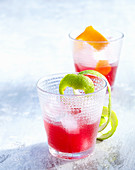 New Yorker - a whiskey cocktail with bourbon, grenadine and lime
