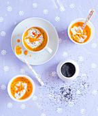 Sweet pumpkin soup with poppy seeds