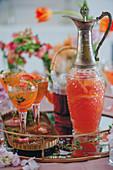 Rooibos-Grapefruit-Drink zum Muttertag