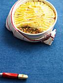 Chicken Pie with Parsnip Mash
