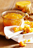 Mango and physalis jam