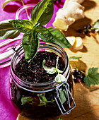 Blackcurrant jam with ginger