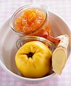 Quince jam with ginger
