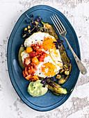 Mediterranean-style huevos rancheros