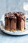 Chocolate mousse cake with fleur de sel