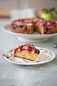 Apple and cherry torte
