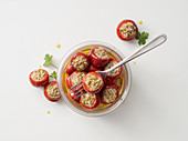 Cherry peppers filled with tuna and capers in oil