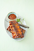 Ribs with barbecue sauce