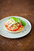 Thunfisch-Toastie mit Parmesan überbacken vom Blech