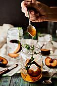 Orange and Rum cocktail