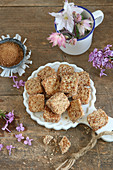 Gluten-free buckwheat biscuits with coconut blossom sugar