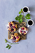Blackberry pastries and coffee