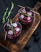 Blackberry cocktail with rosemary