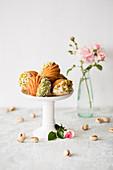 Coconut and pistachio Madeleines