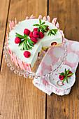 Woodruff cake with raspberry chocolate