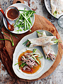 Crunchy Peking duck (China)