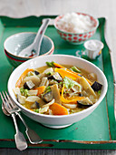 Green curry with vegetables (Asia)