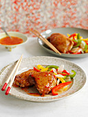 Chicken thighs with peppers and chilli sauce (China)