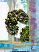 Dried kale leaves