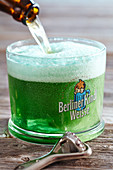 Berliner Weisse (beer with woodruff syrup)