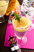 Pumpkin shake (pumpkin milkshake with milk, spices, rum and vanilla ice cream)
