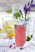 Lemonade from the USA, mint lemonade and lavender lemonade from Provence