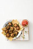 Melanzane alla genovese (stuffed, small eggplant, Italy)