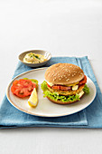 Salmon burger with remoulade