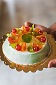 Cassata siciliana (ricotta cream cake with candied fruit, Italy)