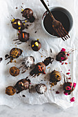 Various chocolate truffles