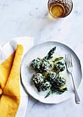 Vegeterian spinach gnocchi