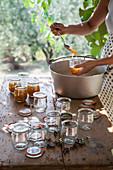 Preparing lemon and rosemary jam