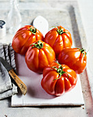 Seasonal oxheart tomatoes