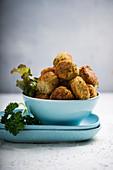 Vegan chickpea and potato bites