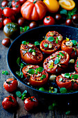 Oven-roasted tomatoes with herbs
