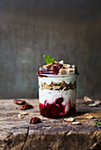 Cornflakes with berries and yoghurt