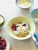 Bircher muesli with yoghurt and fresh berries